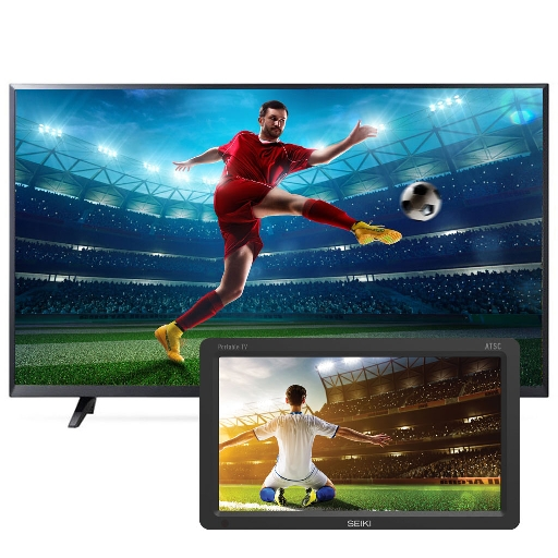 "Pantalla LG 43"" Smart TV Ultra HD 4K + Pantalla Seiki 9"""
